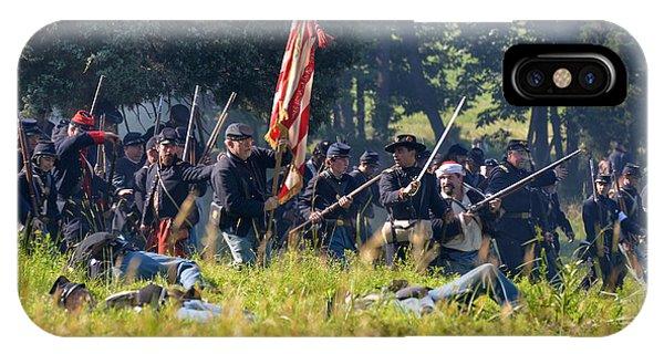 Gettysburg Union Infantry 9348c IPhone Case