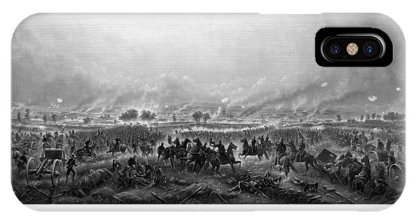 Panoramic iPhone Case - Gettysburg by War Is Hell Store