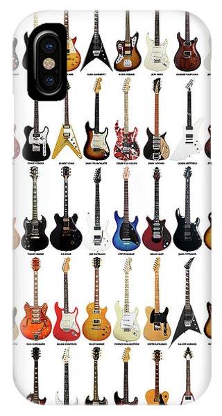 Guitar Legends iPhone Case - Guitar Legends by Zapista