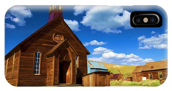 Bodie Ghost Town iPhone Case - Ghost Church by Ricky Barnard