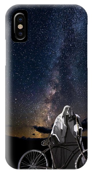 Ghost Rider Under The Milky Way. IPhone Case