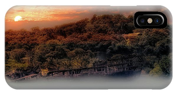 IPhone Case featuring the photograph Ghost Ship Of Isla Roatan - Mahogany Bay Shipwreck - Honduras by Jason Politte