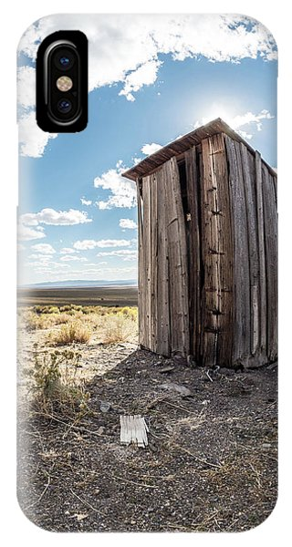 Ghost Town Outhouse IPhone Case