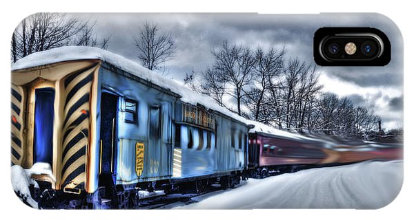IPhone Case featuring the photograph Ghost Train In An Existential Storm by Wayne King