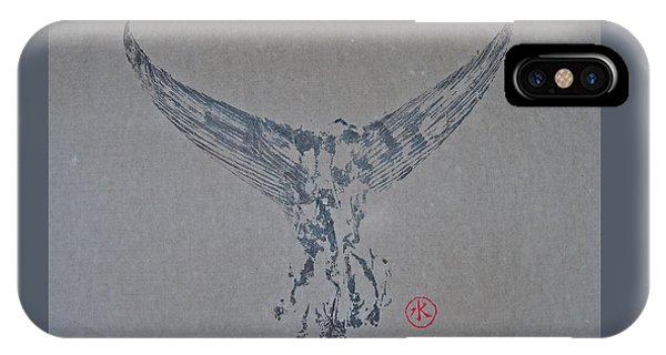 Giant Bluefin Tuna Tail On Rice Paper IPhone Case