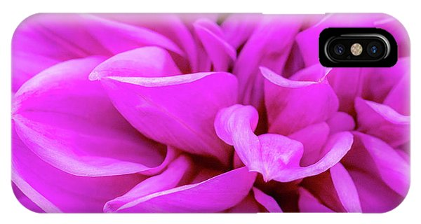 IPhone Case featuring the photograph Giant Dahlia Fuhsia by John Brink