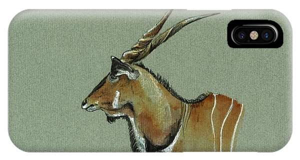 Wild Life iPhone Case - Giant Eland by Juan  Bosco