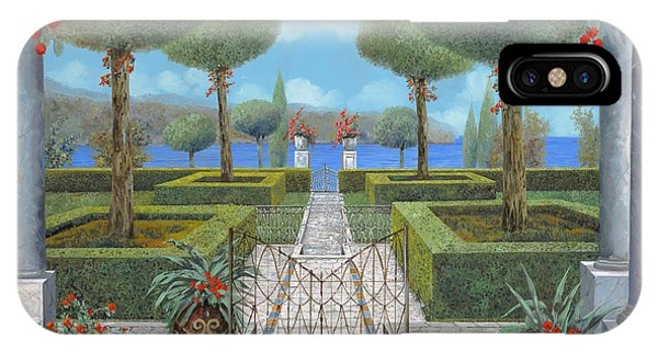 Columns iPhone Case - Giardino Italiano by Guido Borelli