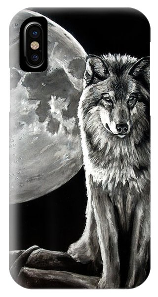 Gibbous Wolf IPhone Case