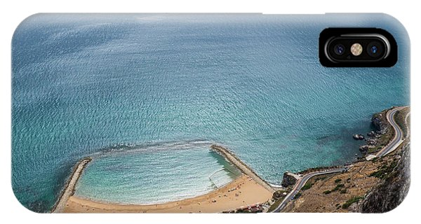 Gibraltar Rock View To The Beach IPhone Case