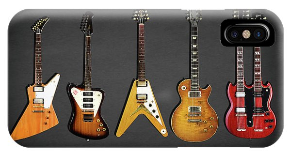 Electric Guitar iPhone Case - Gibson Electric Guitar Collection by Mark Rogan