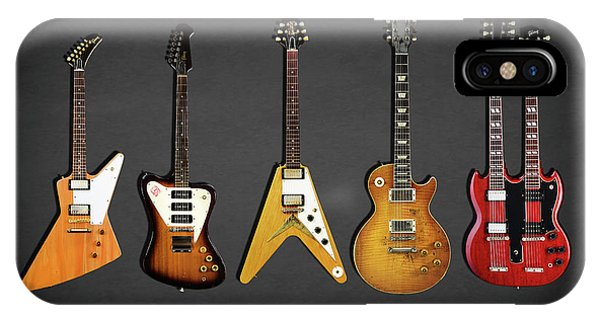 Explorer iPhone Case - Gibson Electric Guitar Collection by Mark Rogan