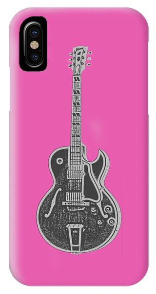 Guitar iPhone Case - Gibson Es-175 Electric Guitar Tee by Edward Fielding