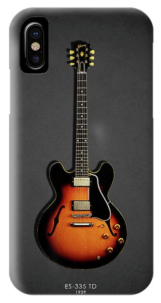 Electric Guitar iPhone Case - Gibson Es 335 1959 by Mark Rogan