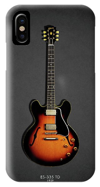 Guitar iPhone Case - Gibson Es 335 1959 by Mark Rogan