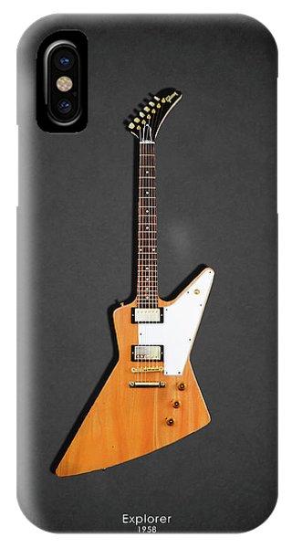 Guitar iPhone Case - Gibson Explorer 1958 by Mark Rogan