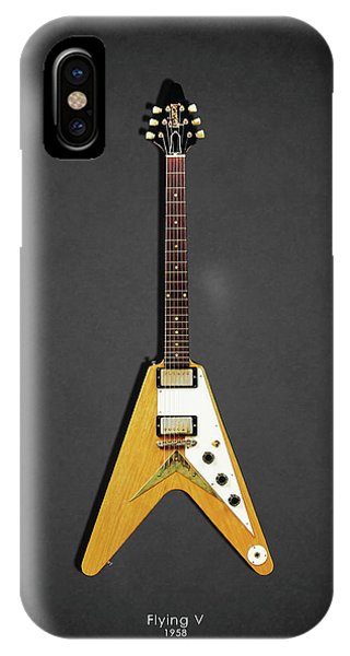 Electric Guitar iPhone Case - Gibson Flying V by Mark Rogan
