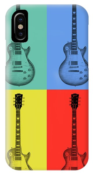 Rock And Roll Jimmy Page iPhone Case - Gibson Guitar Pop Art by Dan Sproul