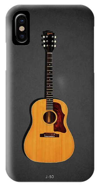 Electric Guitar iPhone Case - Gibson J-50 1967 by Mark Rogan