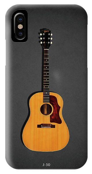 Guitar iPhone Case - Gibson J-50 1967 by Mark Rogan
