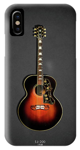 Electric Guitar iPhone Case - Gibson Sj-200 1948 by Mark Rogan