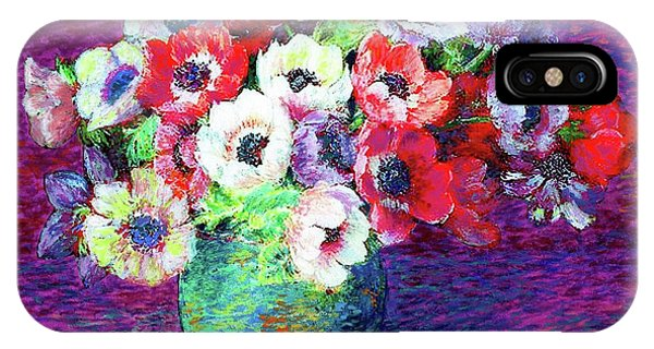 Bloom iPhone Case - Gift Of Anemones by Jane Small