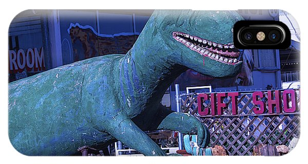 Timeworn iPhone Case - Gift Shop Dinosaur Route 66 by Garry Gay