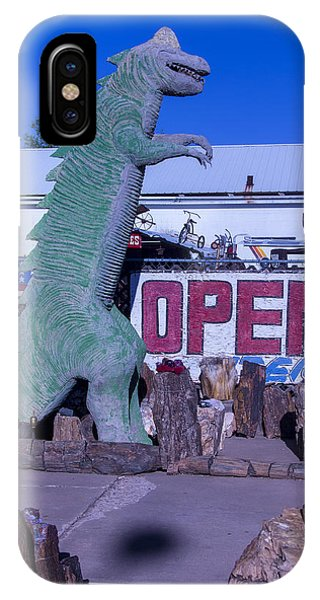 Timeworn iPhone Case - Gift Store Dinosaur  by Garry Gay