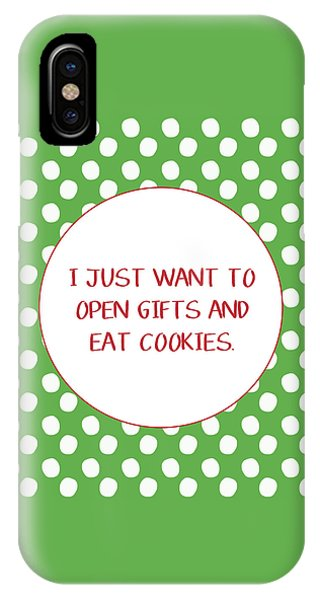 Gifts And Cookies- Art By Linda Woods IPhone Case