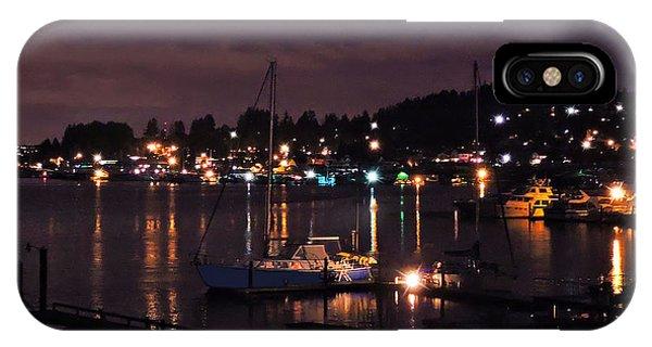 Gig Harbor At Night IPhone Case