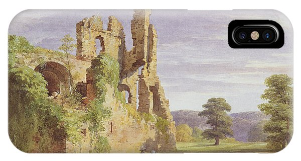 1851 iPhone X Case - Gight Castle, 1851 by James Giles