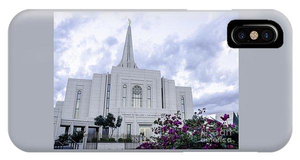 Gilbert Arizona Lds Temple 2 IPhone Case