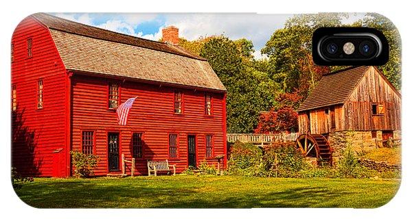 New England Barn iPhone Case - Gilbert Stuart Museum by Lourry Legarde