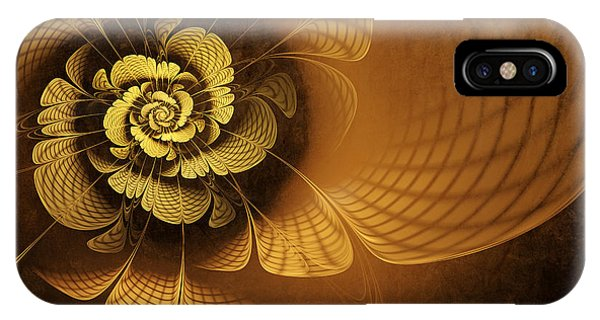 Abstract Digital iPhone Case - Gilded Flower by John Edwards