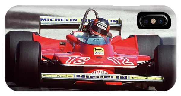 Gilles Villeneuve, Ferrari Legend - 01 IPhone Case