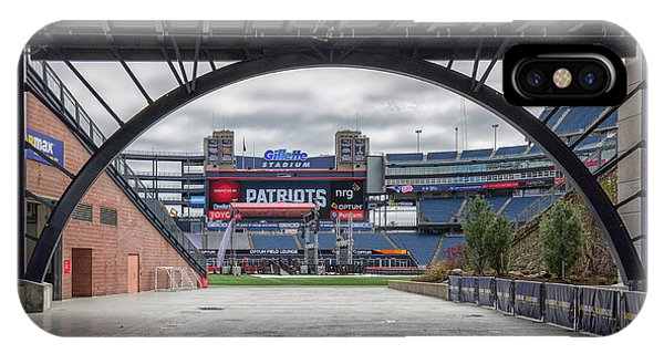 Gillette Stadium And The Four Super Bowl Banners IPhone Case