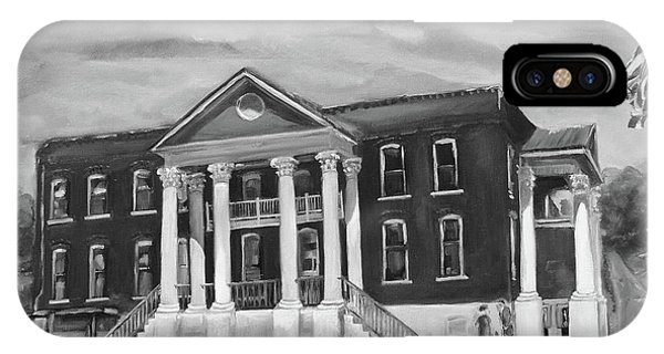 Gilmer County Old Courthouse - Black And White IPhone Case