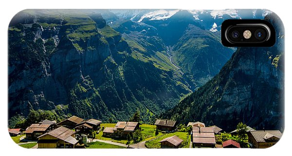 Gimmelwald In Swiss Alps - Switzerland IPhone Case