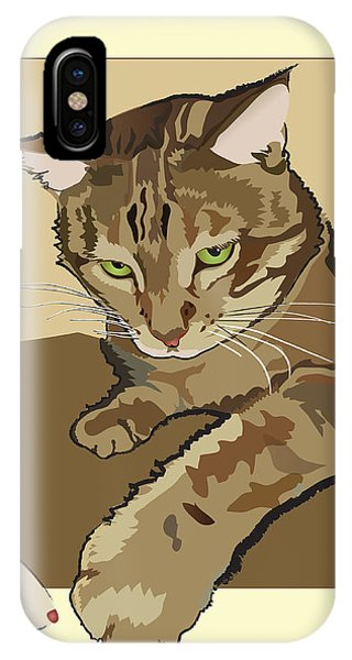 Ginger Peach Bengal Kitty IPhone Case