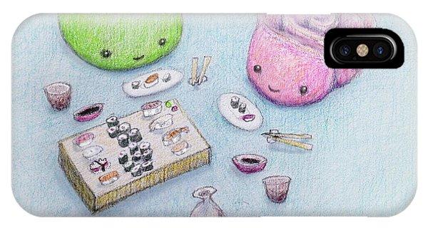 iPhone Case - Gari-san And Wasabi-san Enjoy A Lovely Dinner by Kato D