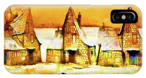 Gingerbread Cottages IPhone Case