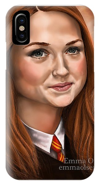 Snape iPhone Case - Ginny Weasley by Emma Olsen