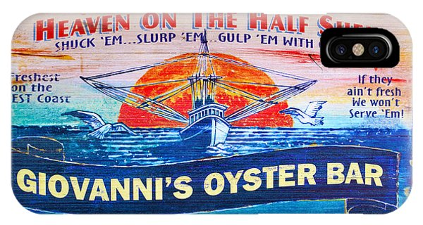 Oyster Bar iPhone Case - Giovanni's Oyster Bar by Floyd Snyder