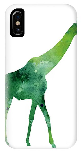 Giraffe iPhone Case - Giraffe African Animals Gift Idea by Joanna Szmerdt