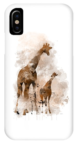 Giraffe And Baby IPhone Case