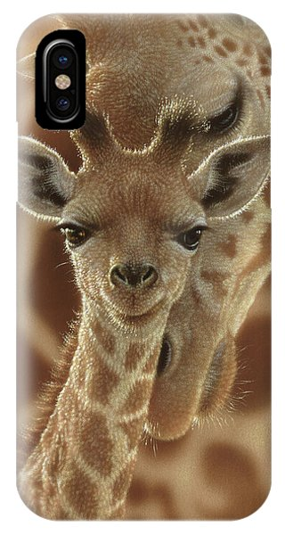 Giraffe Baby - New Born IPhone Case