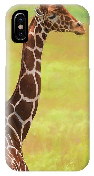 Grace iPhone X Case - Giraffe - Backward Glance by Tom Mc Nemar