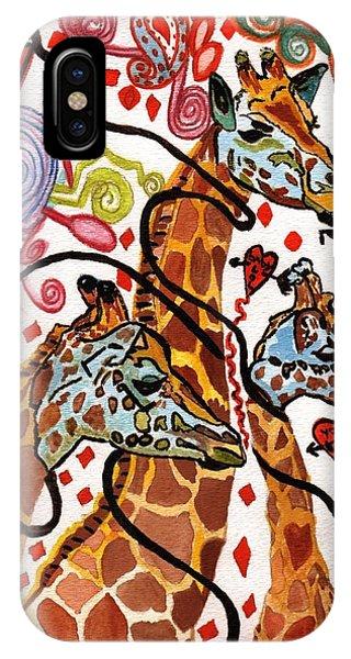 Giraffe Birthday Party IPhone Case