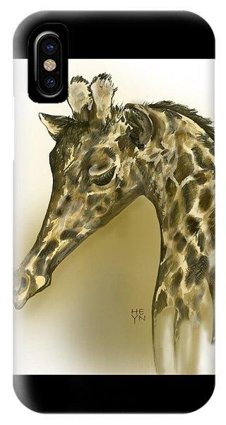 Giraffe Contemplation IPhone Case