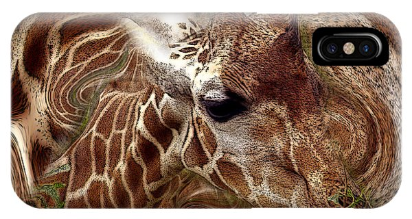 IPhone Case featuring the photograph Giraffe Dreams No. 1 by Wayne King